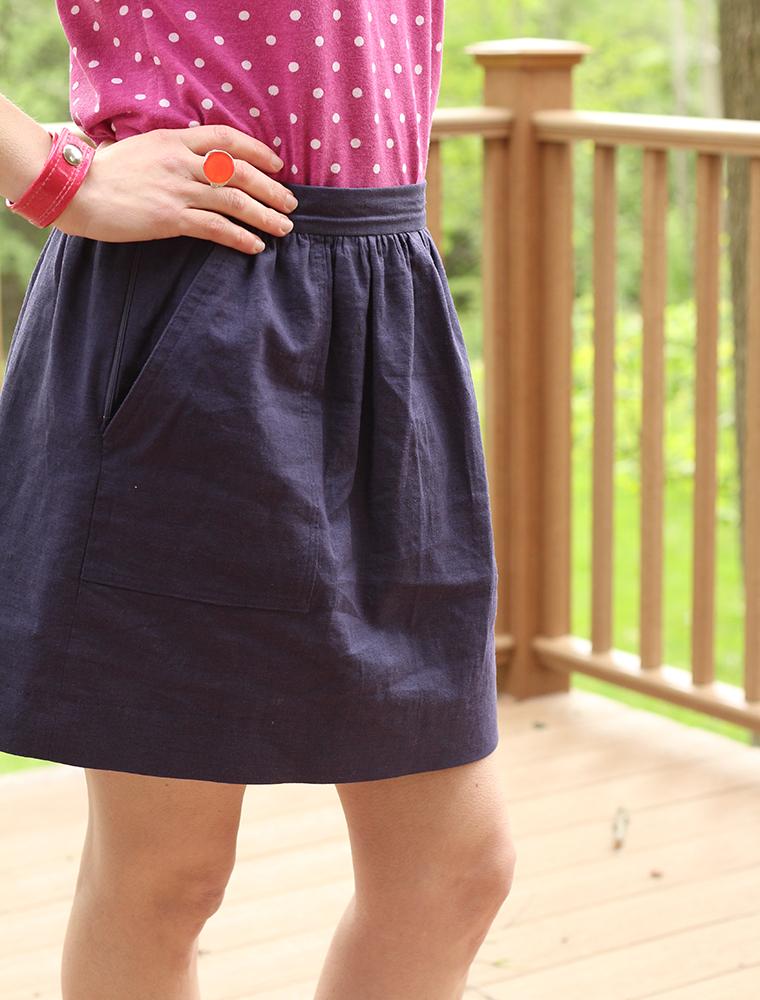 Cali Faye Collection Pocket skirt detail