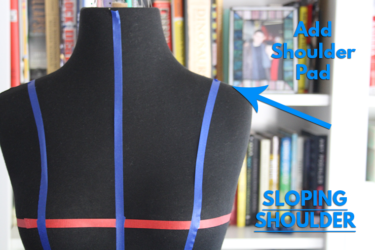 How to Pad a Dress Form Sie Macht Sloping Shoulder
