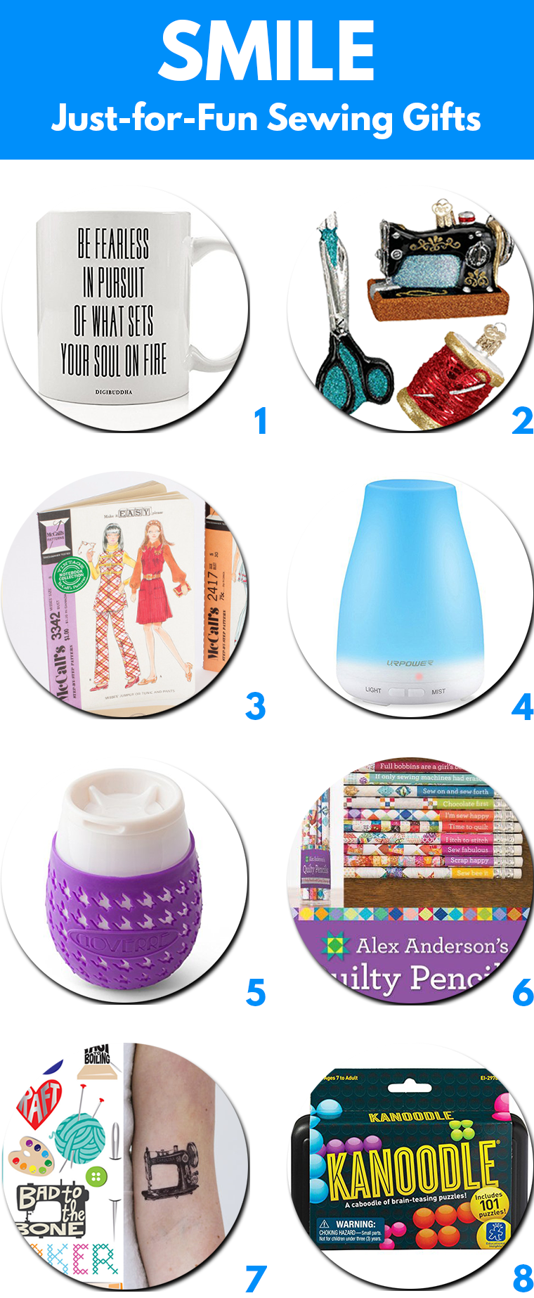 Smile Gifts for Sewing Lovers Sie Macht