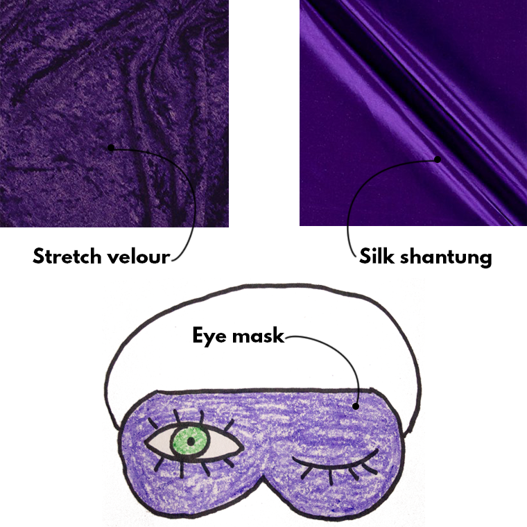 Sewing for Your Period Sie Macht Eye Mask