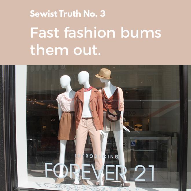 2 people who sew dislike fast fashion