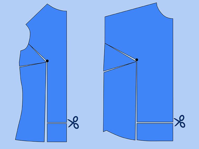 Bust Adjustment on T-Shirts Sie Macht Step 12
