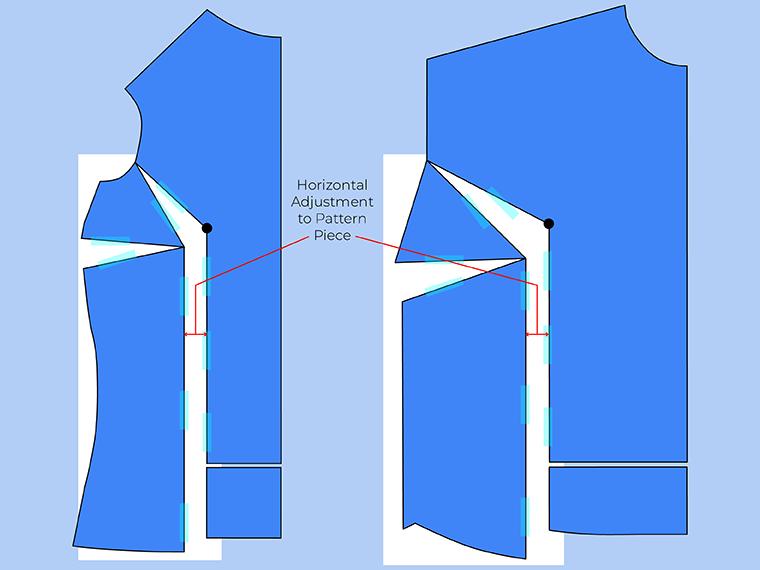 Bust Adjustment on T-Shirts Sie Macht Step 13