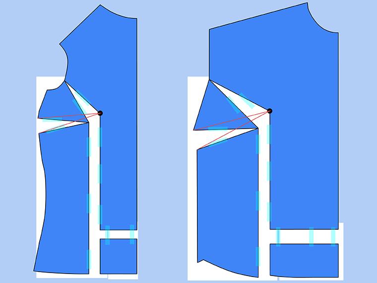 Bust Adjustment on T-Shirts Sie Macht Step 15