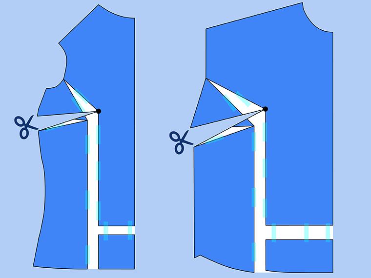 Bust Adjustment on T-Shirts Sie Macht Step 16
