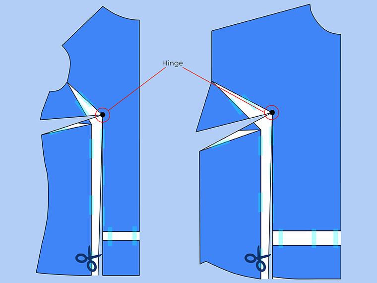 Bust Adjustment on T-Shirts Sie Macht Step 17
