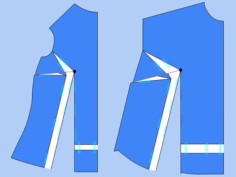 Bust Adjustment on T-Shirts Sie Macht Step 18