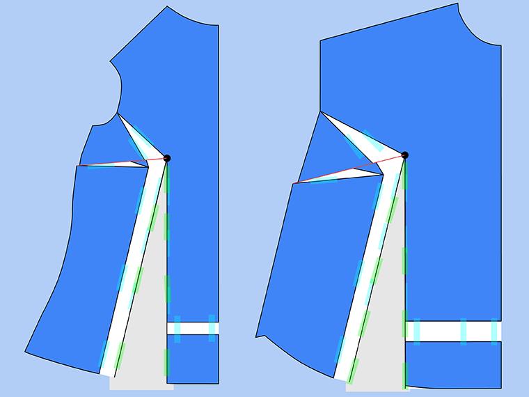 Bust Adjustment on T-Shirts Sie Macht Step 19
