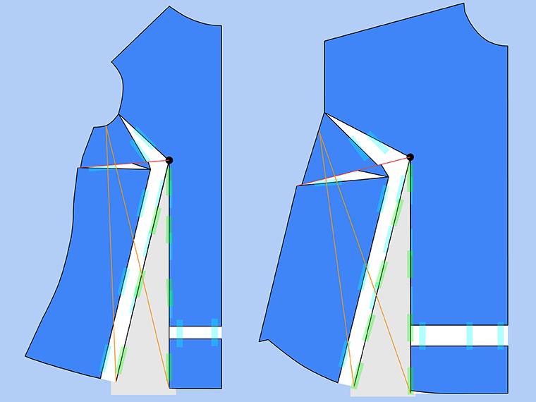 Bust Adjustment on T-Shirts Sie Macht Step 20