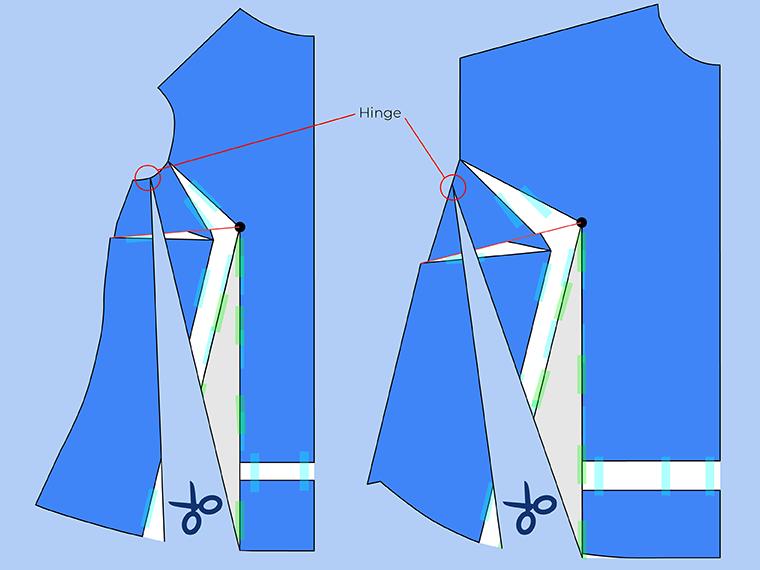 Bust Adjustment on T-Shirts Sie Macht Step 21