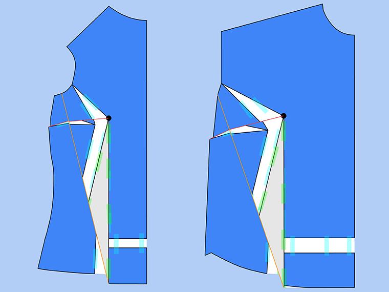 Bust Adjustment on T-Shirts Sie Macht Step 22