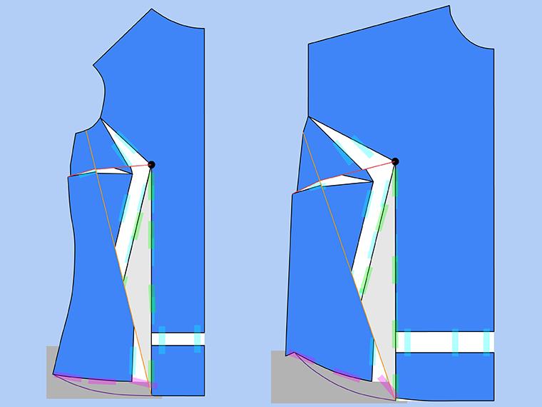 Bust Adjustment on T-Shirts Sie Macht Step 23