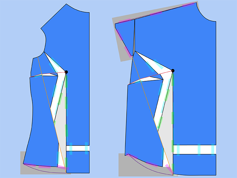 Bust Adjustment on T-Shirts Sie Macht Step 24