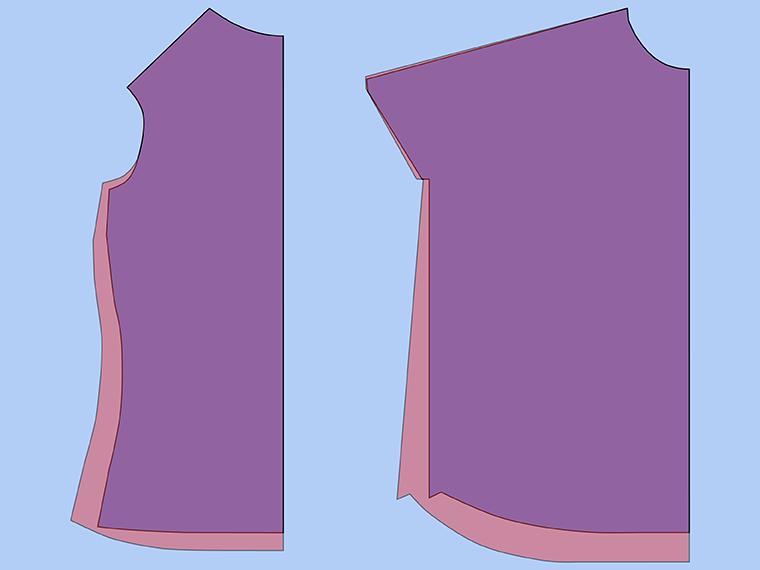 Bust Adjustment on T-Shirts Sie Macht Step 25