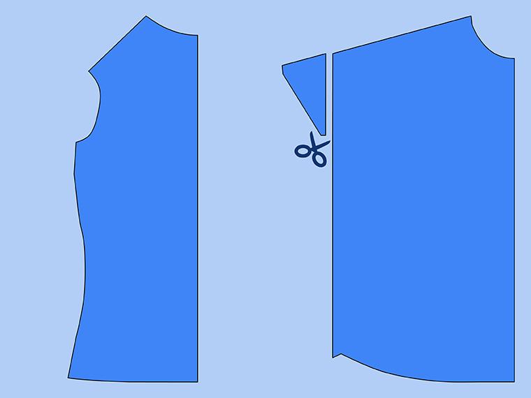 Bust Adjustment on T-Shirts Sie Macht Step 4