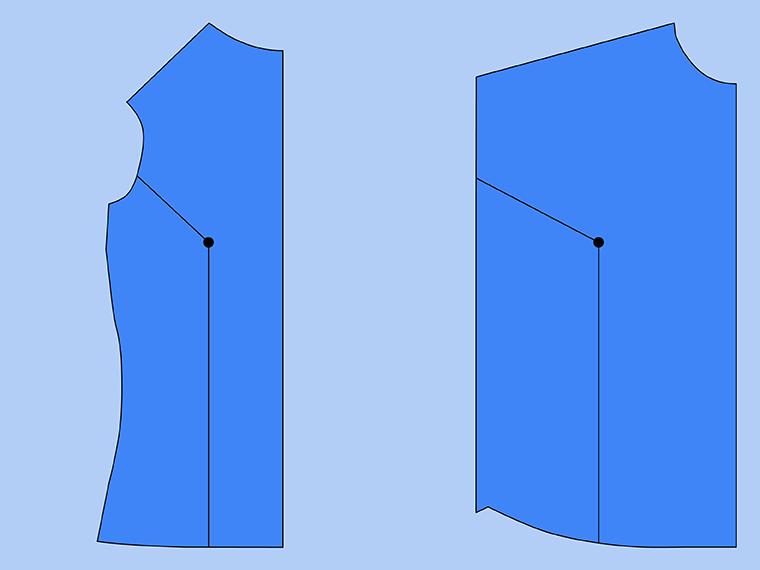 Bust Adjustment on T-Shirts Sie Macht Step 7