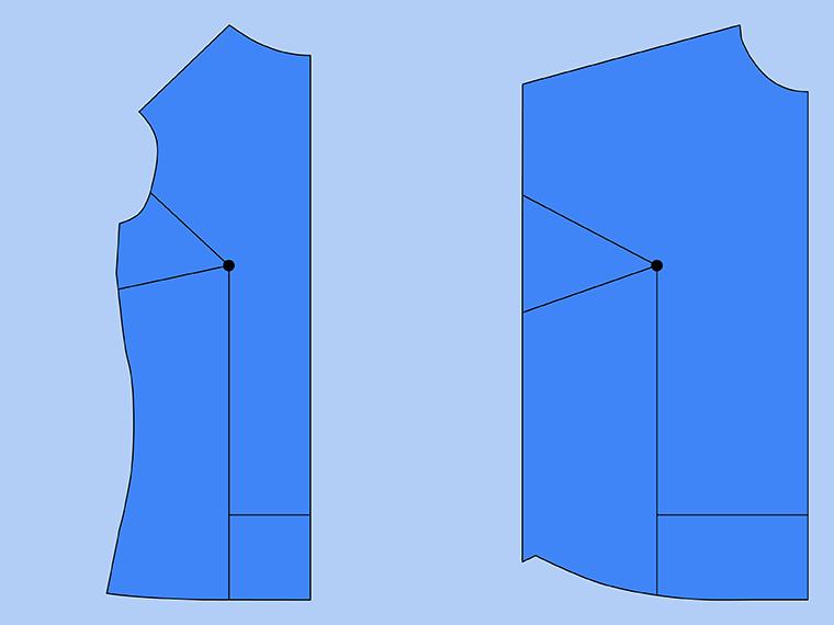 Bust Adjustment on T-Shirts Sie Macht Step 9