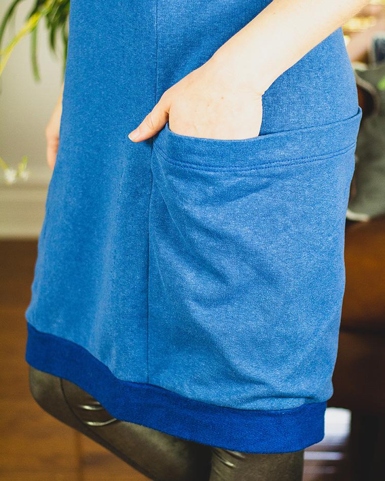 Lola Sweater Dress Sie Macht Pocket Detail