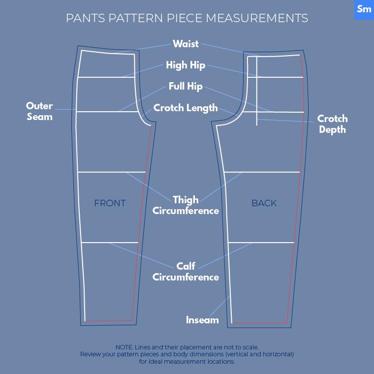 Flat Pattern Measuring Sie Macht Pants Pattern Piece Measurements