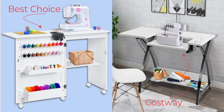 Best Choice and Costway Sewing Tables Collage Sie Macht