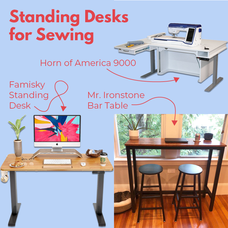 Standing Sewing Tables Collage Sie Macht