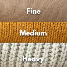 Fine-Gauge, Medium-Gauge, and Heavyweight Sweater Knits